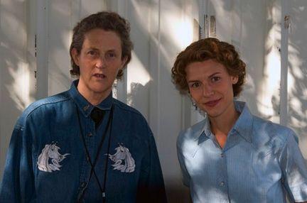 Temple Grandin and Claire Danes